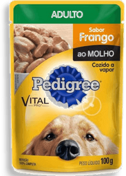 Ração Úmida Pedigree Sachê Cães Adultos de Raças Pequenas 100 g
