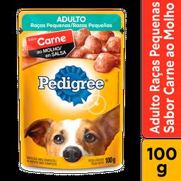 Ração Úmida Pedigree Carne/Molho Cães Raças Pequenas 100g