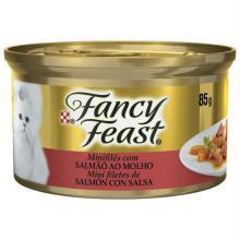 Ração Úmida Fancy Feast Para Gatos Salmão Ao Molho Lata 85 g