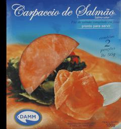 Salmão Congelado Carpaccio Fatiado Damm 2 Undidades 100 g