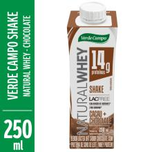 Shake Natural Whey Verde Campo Sabor Cacau Com Chocolate 250 mL