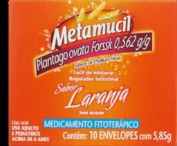 Metamucil Laranja Com 10 Envelopes 5,85 g