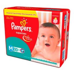 Fralda Pampers Super Sec Pacotão M 30 Und
