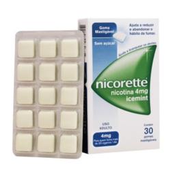 Nicorette Icemint 4 Mg Com 30 Comprimidos