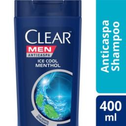 Shampoo Clear Men Anticaspa Ice Cool Mentol 400 mL
