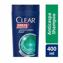 Shampoo Clear Men Anti Caspa 2 Em 1 Limpeza Diária 400 mL