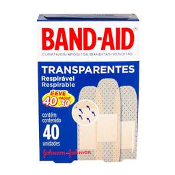 Curativo Band Aid Transparente 40 Und