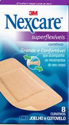 Curativos Superflexíveis Nexcare 3M Joelhos E Cotovelos 8 Und