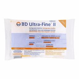 Seringa Bd Ultrafine 8Mm 30Ui Com 10 Und