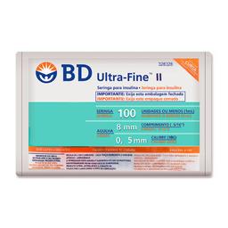 Seringa Bd Ultrafine Ii 8Mm 100 Ui Com 10 Und
