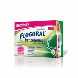 Flogoral Cereja Com 12 Pastilhas
