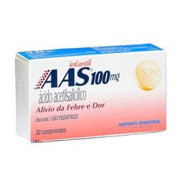 Aas 100 Mg Infantil Com 30 Comprimidos