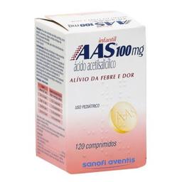 Aas 100 Mg Infantil Com 120 Comprimidos