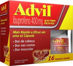 Advil 16 Cápsulas 400 mg