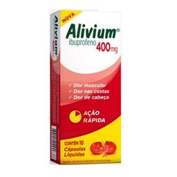 Alivium 400 Mg Com 10 Cápsulas Gelatinosas