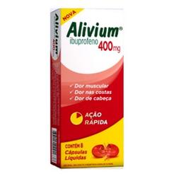 Alivium 400 Mg Hypermarcas 8 Cápsulas Líquidas