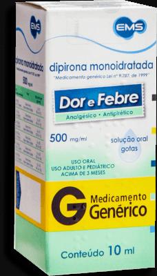 Dipirona Sódica Ems Genérico 500 Mg 10 mL