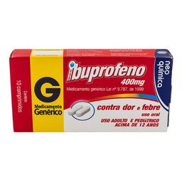 Ibuprofeno 400 Mg Com 10 Comprimidos Genérico Neo Química