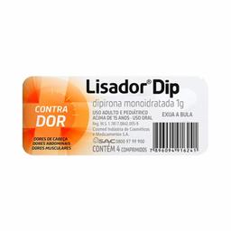 Lisador Dip 1 g Com 4 Comprimidos