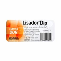 Lisador Dip 1 g Com 8 Comprimidos