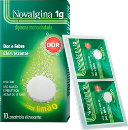 Novalgina 1 g Sanofi Aventis 10 Comprimidos