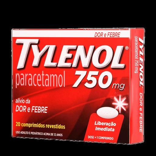 Tylenol 750Mg 20 Comprimidos