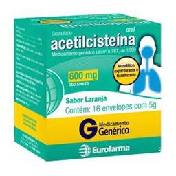 Acetilcisteína 600 Mg Eurofarma 16 Und