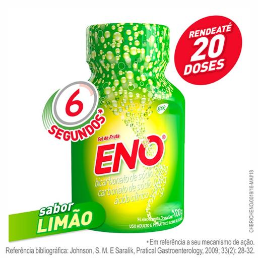 Eno Sal De Fruta Sabor Limão Pó Efervescente