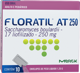 Remédio Floratil At 250 Mg Adulto E Pediátrico Com 10 Sachês