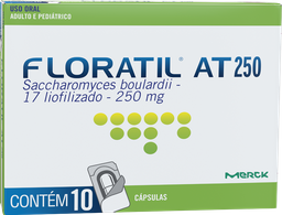 Remédio Floratil At 250 Mg Adulto E Pediátrico 10 Cápsulas