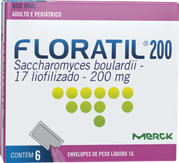 Floratil 200 Mg Adulto E Pediátrico Com 6 Und