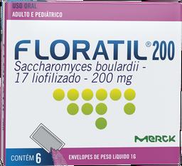 Floratil 200 Mg Adulto E Pediátrico Com 6 Und