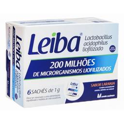 Leiba Laranja Sachê Com 6 Und 4 g
