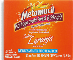 Metamucil Laranja Com 10 Envelopes 5,85 g