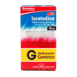 Loratadina Biosintética Genérico 10 Mg 12 Comprimidos