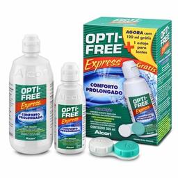Opti Free Express 355 mL Grátis Opti Free Express120 mL+Estojo P