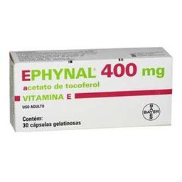 Vitamina Ephynal 400 Mg Com 30 Cápsulas