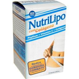 Nutrilipo Psyllium + Vitamina C + Colageno Com 60 Cápsulas Gela