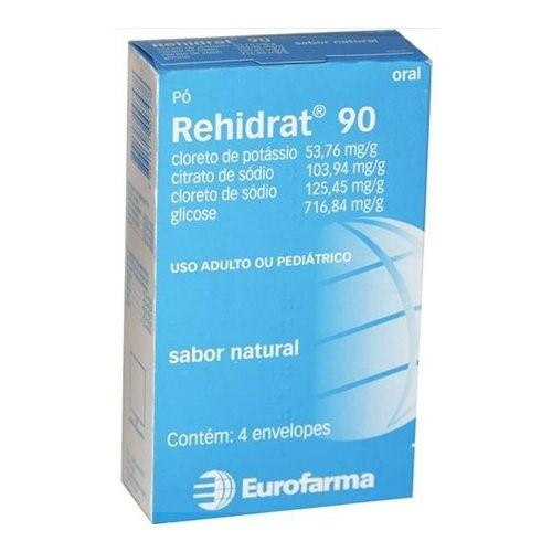 Rehidrat 90 Pó 4 Envelopes Contendo Sabor Natural