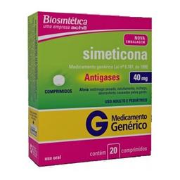Simeticona 40 mg 20 Comprimidos Bios Gen