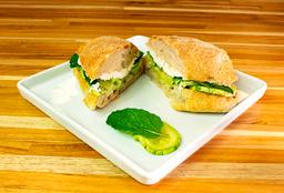 Sanduíche de Abobrinha com Queijo Brie