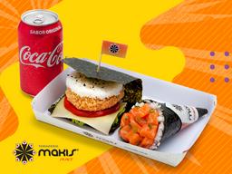 Temaki + Makis Burger + Refrigerante (220ml)