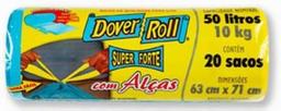 Saco Super Forte com Alças com 20 Sacos Azul 50L 43x22x30cm
