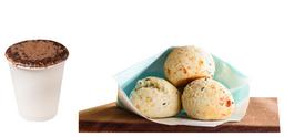Pão de Queijo ou Sem Queijo + Capuccino