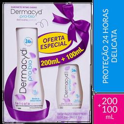 Kit Sabonete Liquido Dermacyd 24H Delicata 200 mL + 100 mL