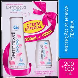 Kit Sabonete Liquido Dermacyd 24H Femina 200 mL + 100 mL