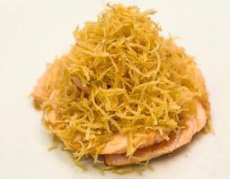 Sashimi Salmão Crispy 2 Unidades