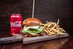 Holy burger smash + fritas + refri