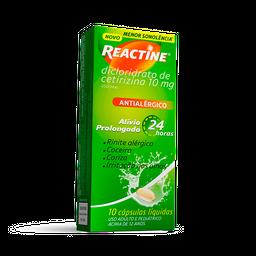 Reactine® 10 Cápsulas Líquidas