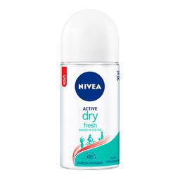 Desodorante Nivea Roll-On Feminino Active Dry Fresh 50 mL